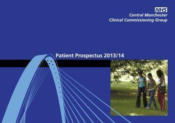 Central Manchester Prospectus 2013/14