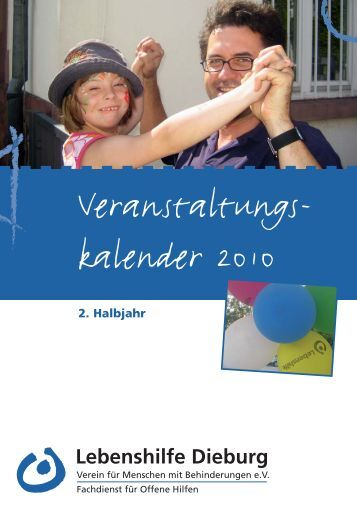 Veranstaltungskalender 2010 2.Halbjahr - Lebenshilfe Dieburg eV
