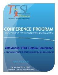 Brochure - TESL Ontario