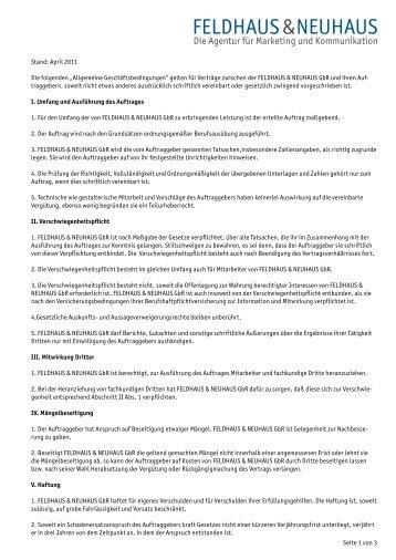 """Seite 1 von 3 Stand: April 2011 Die folgenden """"Allgemeine ..."""