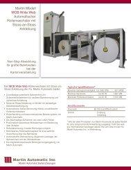 Martin Modell MCB Wide Web Automatischer ... - Martin Automatic Inc