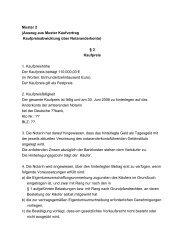 Muster 2 (Auszug aus Muster Kaufvertrag Kaufpreisabwicklung über ...