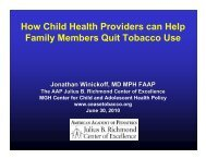 How Child Health Providers can Help Family Members Quit Tobacco ...