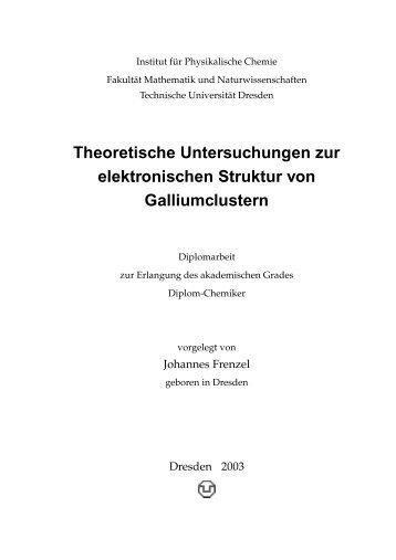 Theoretische Untersuchungen zur elektronischen Struktur ... - Cobalt