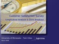 Customer Satisfaction Survey - Facilities Management - University of ...