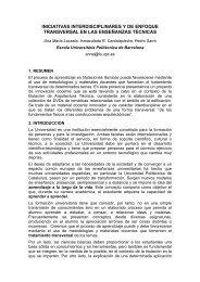 Iniciativas interdisciplinares y de enfoque transversal en las ... - UPC