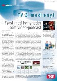 Først med tv-nyheder som video-podcast - Tv2