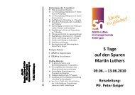 5 Tage auf den Spuren Martin Luthers - Martin Luther Gemeinde ...