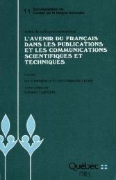 La promotion du français international - Louis-Edmond Hamelin