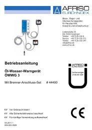 Betriebsanleitung für Öl-Wasser-Warngerät 3 mit ... - Wekonn