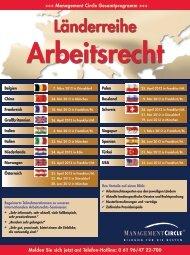 Seminar: Länderreihe Arbeitsrecht - Management Circle AG
