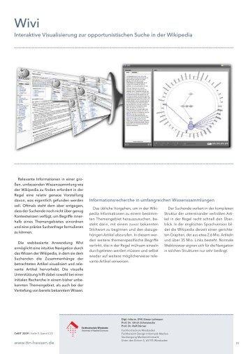 Interaktive Visualisierung zur opportunistischen ... - Medieninformatik
