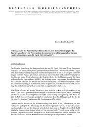 Stellungnahme - Die Deutsche Kreditwirtschaft