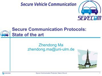 Secure Communication Protocols: State of the Art - Sevecom