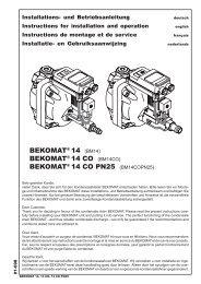 bekomat® 14 co pn25 - BEKO TECHNOLOGIES GmbH
