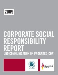 CSR-Report und Communication on Progress (COP) 2009 - Bawag