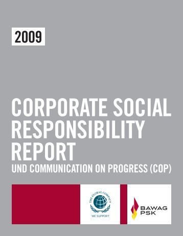 CSR-Report und Communication on Progress (COP) 2009 - Bawag