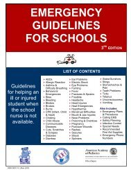 Emergency Guidelines for Schools - American Academy of Pediatrics