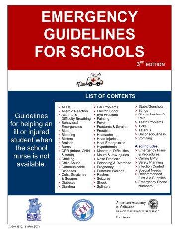 Emergency Guidelines for Schools - American Academy of Pediatrics