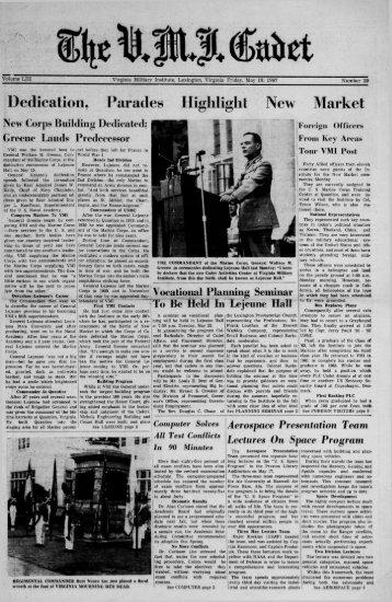 The Cadet. VMI Newspaper. May 19, 1967 - New Page 1 [www2.vmi ...