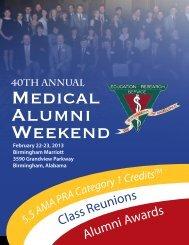 40th Annual - Alabama Medical Alumni