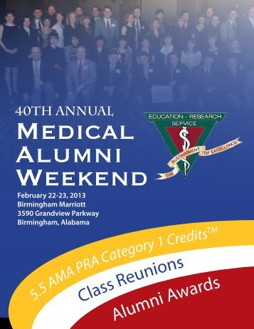 40th Annual - Alabama Medical Alumni