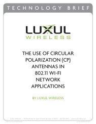 Luxul Wireless Use of Circular Polarization Antennas ... - WiFi Shop