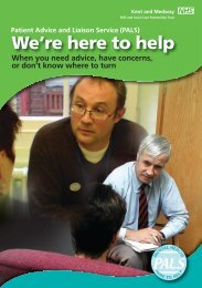 PALS information leaflet - Kent and Medway NHS and Social Care ...