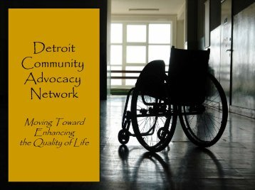 Detroit Community Advocacy Network - Detroit Area Agency on Aging