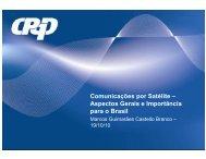 Comunicações por Satélite – Aspectos Gerais e Importância para o ...