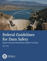 Hazard Potential Classification Systems for Dams, FEMA 333
