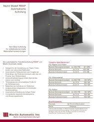 Martin Modell RMAP Automatische Aufrollung - Martin Automatic Inc
