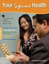 Spine Your - Sutter Health Sacramento Sierra Region
