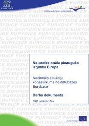 Ne-profesionāla pieaugušo izglītība Eiropā - Akadēmiskās ...