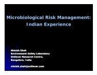 Microbiological Risk Management: I di E i Indian ... - ILSI India