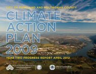 Climate Action Plan - Year Two Progress Report - City of Portland ...