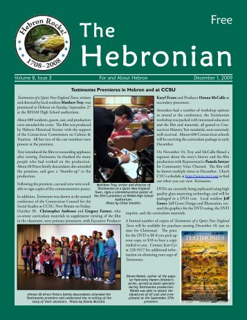 The Hebronian December 2009 Page 1 Volume 8, Issue 3 ... - Gulemo