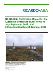 QA/QC Data Ratification Report for the Automatic ... - UK-Air - Defra