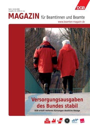 Ausgabe 04/2009 - Landesbeamte