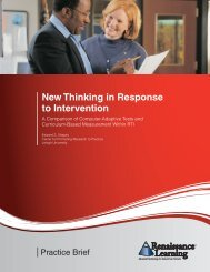 New Thinking in Response to Intervention - Renaissance Learning