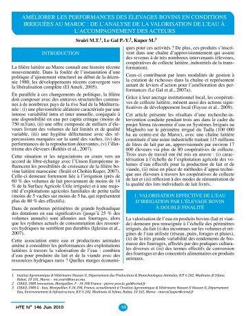 améliorer les performances des élevages bovins en ... - Anafide.org