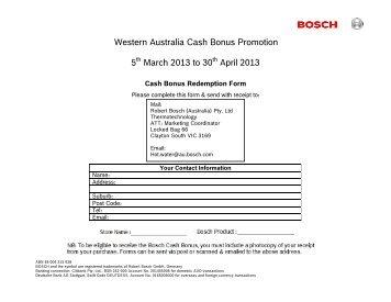 Western Australia Cash Bonus Promotion 5th March 2013 to 30th ...