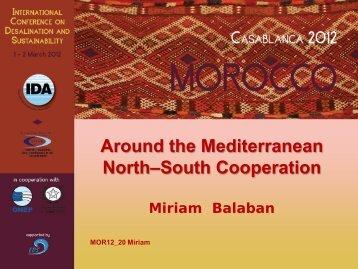 Around the Mediterranean North–South Cooperation Miriam ... - emwis
