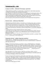 Rezepte Weltgebetstag 2011 - ekimalsch.de