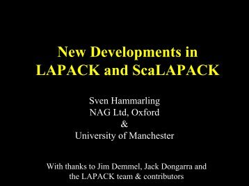 New Developments in LAPACK and ScaLAPACK