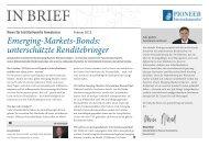 Emerging-Markets - Institutionelle Investoren - Pioneer Investments
