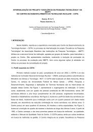 """internalização do projeto """"excelência na pesquisa ... - CDTN"""