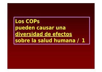 Diversidad de efectos de los COPs sobre la salud humana