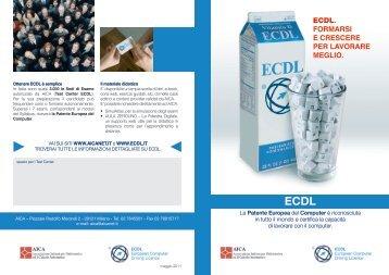 Volantino ECDL - Aica