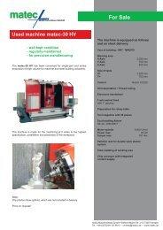 Used machine matec-30 HV For Sale
